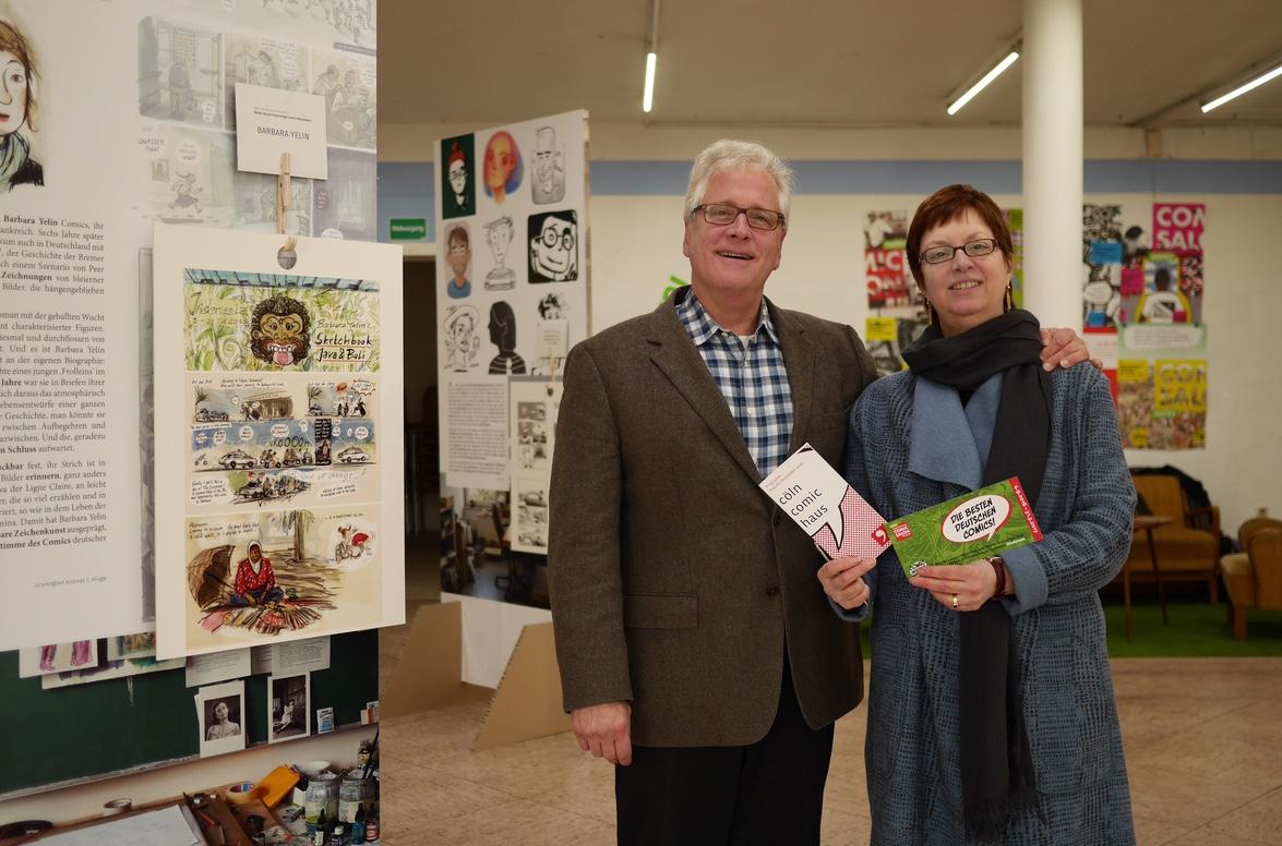 Thomas Schmitz-Lippert und Susanne Flimm vom Cöln Comic Haus